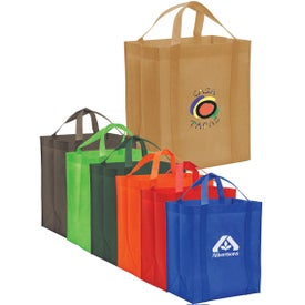 Non-Woven Reusable Grocery Tote for Promotion