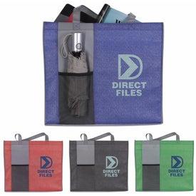 Non-Woven Shimmer Pocket Tote Bag