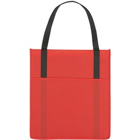 Branded Non-Woven Shopper's Pocket Tote Bag