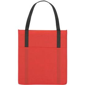 Branded Non-Woven Shopper's Pocket Tote Bag