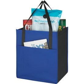 Company Non-Woven Shopper's Pocket Tote Bag