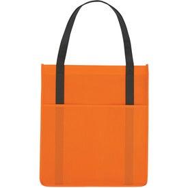 Non-Woven Shopper's Pocket Tote Bag Giveaways