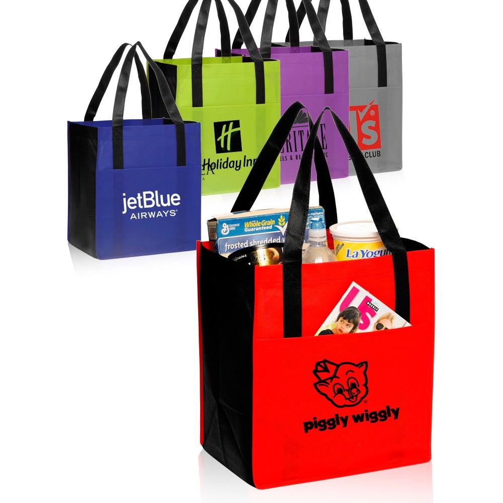 Non-Woven Shoppers Pocket Tote Bag