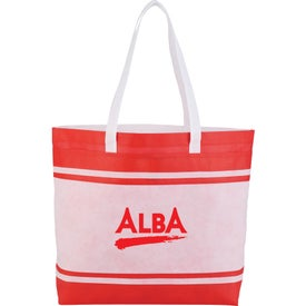 Non-Woven Stripes Tote Bag