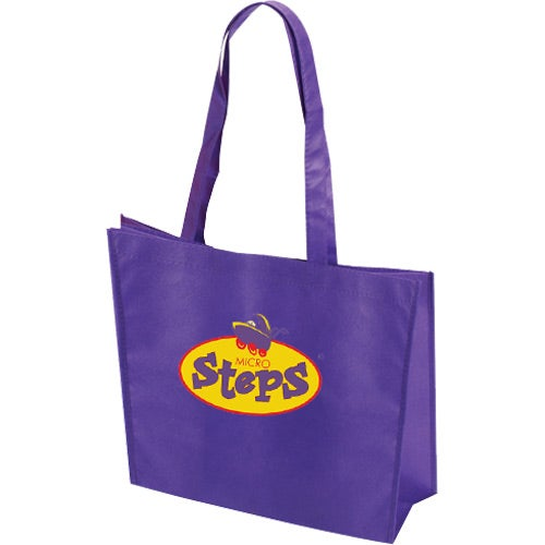 Purple Non Woven Textured Tote Bag