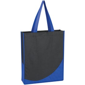 Non-Woven Tote Bag with Accent Trim Printed with Your Logo