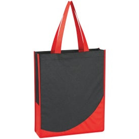 Branded Non-Woven Tote Bag with Accent Trim