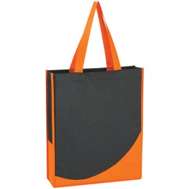 Printed Non-Woven Tote Bag with Accent Trim