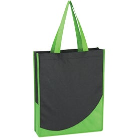 Non-Woven Tote Bag with Accent Trim for Customization