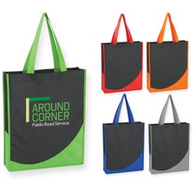 Imprinted Non-Woven Tote Bag with Accent Trim