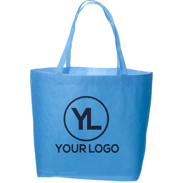 Light Blue Non Woven Value Tote