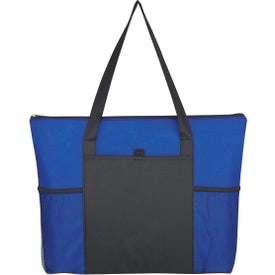 Company Non-Woven Voyager Zippered Tote Bag