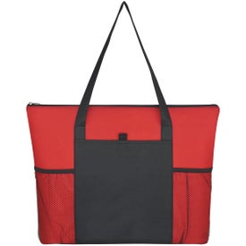 Branded Non-Woven Voyager Zippered Tote Bag