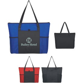 Non-Woven Voyager Zippered Tote Bag for Marketing