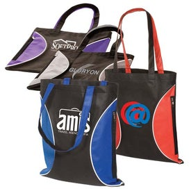 Imprinted Non-Woven Zipper Side Tote - 100GSM
