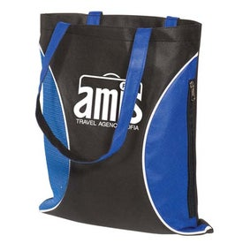 Printed Non-Woven Zipper Side Tote - 100GSM