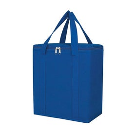 Imprinted Non Woven Insulated Marketplace Tote Bag
