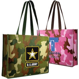 Non Woven Camo Tote Bag (Full Color Logo)