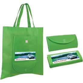 Non Woven Fold and Go Tote Bag Imprinted with Your Logo