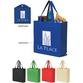 Non-Woven Foldable Shopper Tote Bag Branded with Your Logo