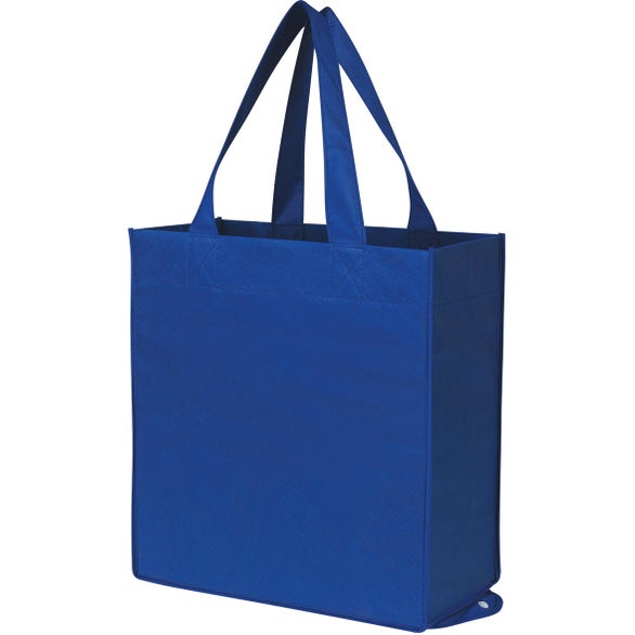 Royal Blue Non-Woven Foldable Shopper Tote Bag