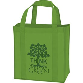 Non-Woven Grocery Tote with Your Slogan