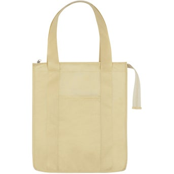 Promotional Non-woven Insulated Shopper Tote Bag with Custom Logo ...
