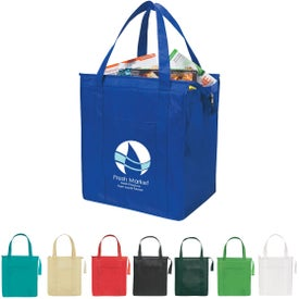 Non-woven Insulated Shopper Tote Bag with Your Slogan