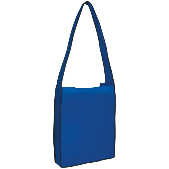 Royal Blue Non-Woven Messenger Tote Bag with Velcro Closure