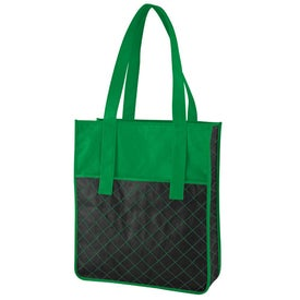 Monogrammed Nonwoven Quilted Shopper Tote