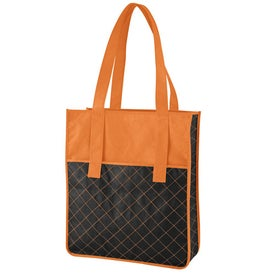 Advertising Nonwoven Quilted Shopper Tote