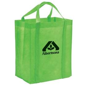 Monogrammed Non-Woven Reusable Grocery Tote