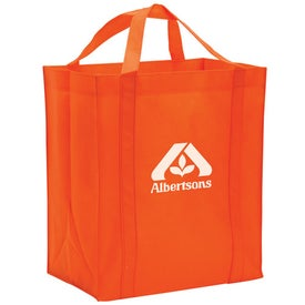 Non-Woven Reusable Grocery Tote Printed with Your Logo