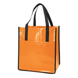 Printed Nonwoven Slick Shopper Tote