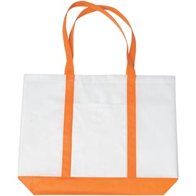 Non-woven Tote with Trim Colors for Customization