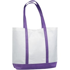 Printed Non-woven Tote with Trim Colors