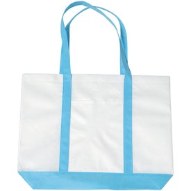 Non-woven Tote with Trim Colors with Your Logo