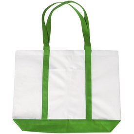 Branded Non-woven Tote with Trim Colors