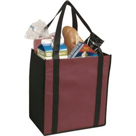Non-Woven Two-Tone Grocery Tote Bag for Marketing