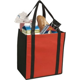 Customized Non-Woven Two-Tone Grocery Tote Bag