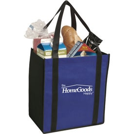 Advertising Non-Woven Two-Tone Grocery Tote Bag