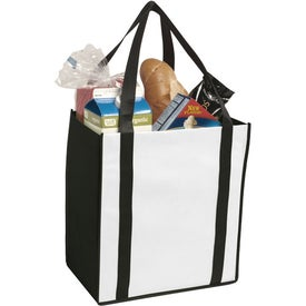 Non-Woven Two-Tone Grocery Tote Bag for Promotion