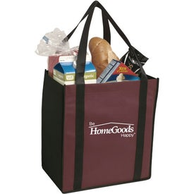 Non-Woven Two-Tone Grocery Tote Bag