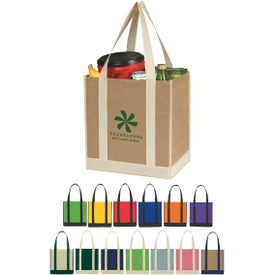 Non Woven Two Tone Shopper Tote Bag