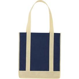 Custom Non Woven Two Tone Shopper Tote Bag