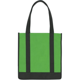 Non Woven Two Tone Shopper Tote Bag for your School