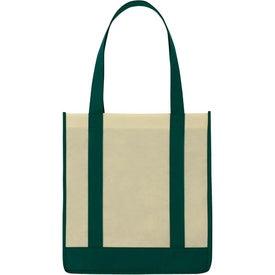 Customized Non Woven Two Tone Shopper Tote Bag