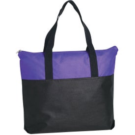 Non-Woven Two Tone Zippered Tote Bag for your School