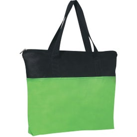 Advertising Customizable Non-woven Zippered Tote Bag