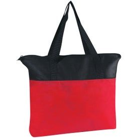 Customizable Non-woven Zippered Tote Bag for Your Organization